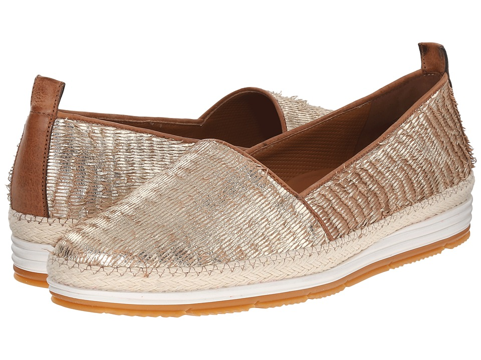 Paul Green - Hepburn (Gold Cuoio Fraye) Women's Slip on Shoes