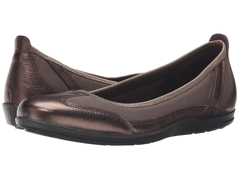 ECCO - Bluma Summer Ballerina (Licorice Metallic/Tarmac) Women's Shoes