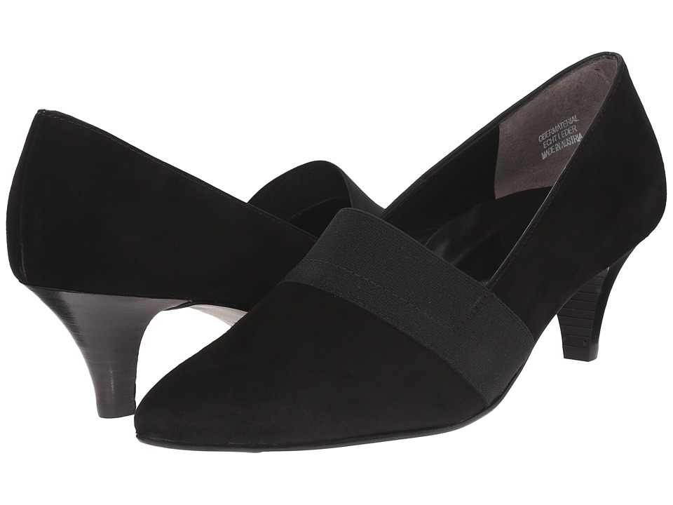 Paul Green India Pump (Black Suede) Women
