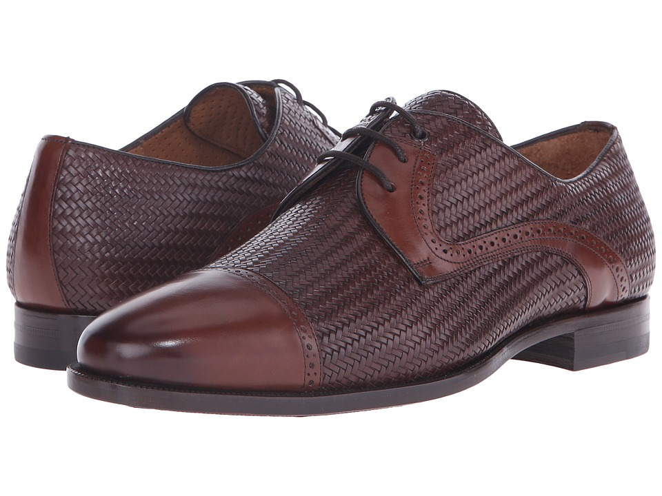 Mezlan Cortes (Cognac/Brown) Men's Lace Up Cap Toe Shoes