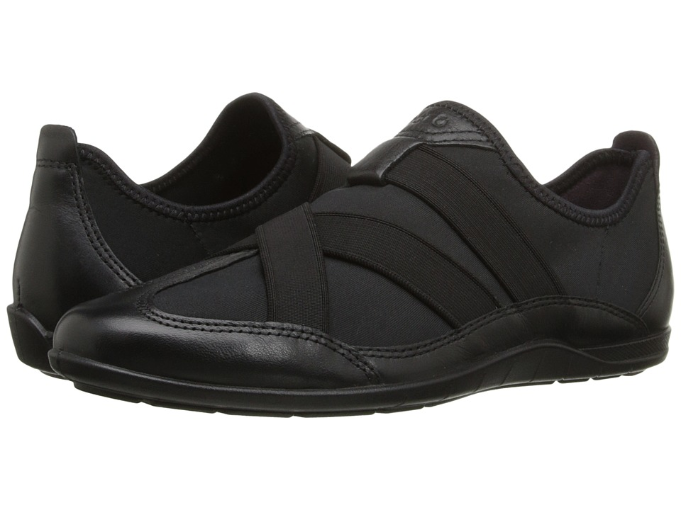 ECCO - Bluma Slip-On (Black/Black) Women's Slip on Shoes