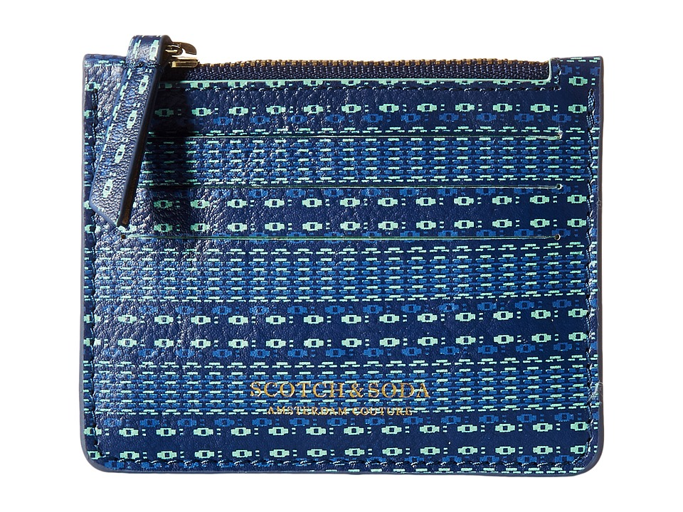 Scotch & Soda - Leather Card Holder (Blue) Credit card Wallet