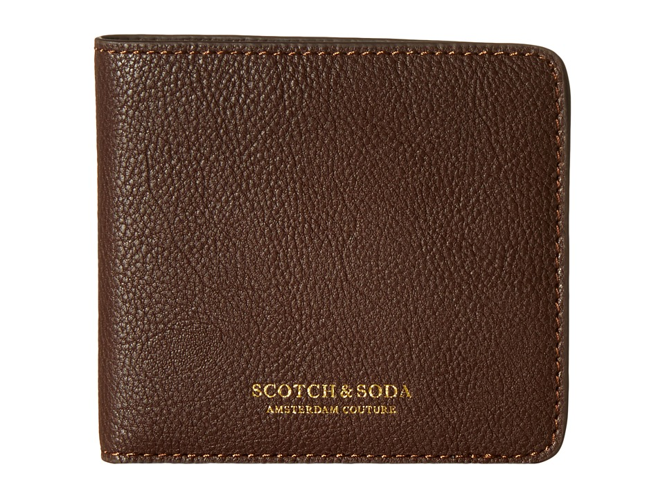 Scotch & Soda - Leather Wallet (Brown) Wallet Handbags