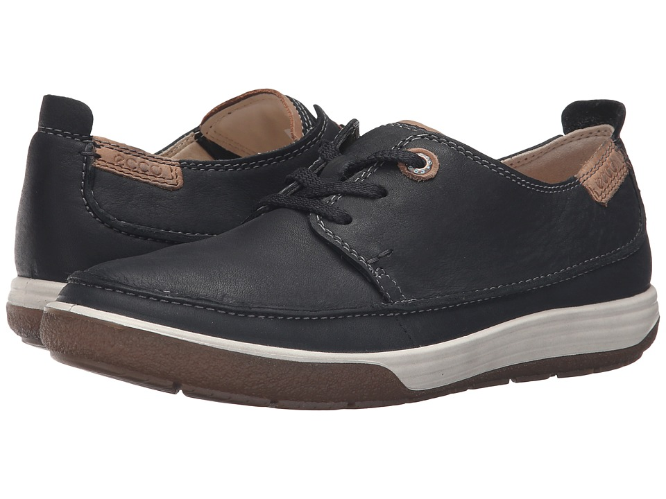ECCO - Chase II Moc Tie (Black/Whisky) Women's Lace up casual Shoes