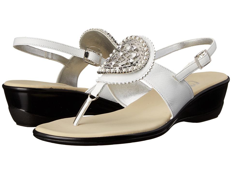 Onex - Traci (White/Silver) Women's Sandals