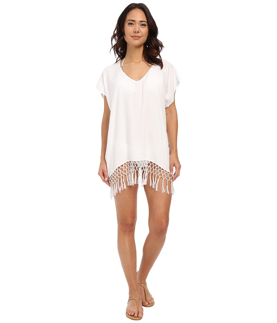 Seafolly - Block Party Starlight Kaftan Cover-Up (White) Women's Swimwear