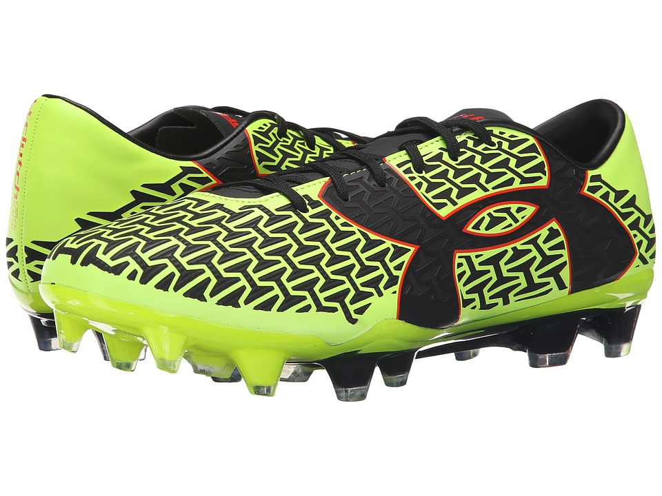 Under Armour - UA Corespeed Force 2.0 FG (Black/Graphite/High-Vis Yellow) Men's Soccer Shoes