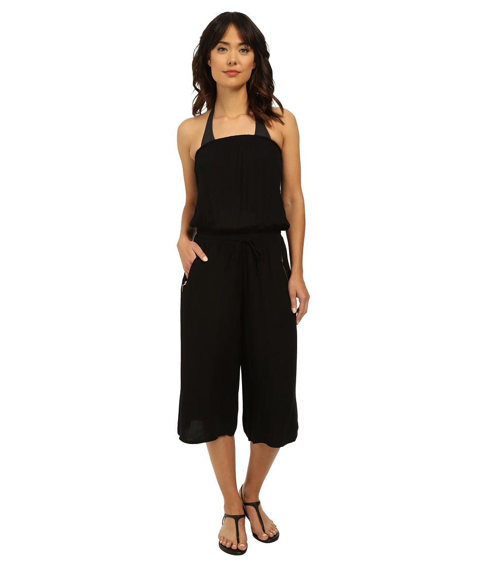 Seafolly - Beach Gypsy Howzat Jumpsuit Cover-Up (Black) Women's Jumpsuit & Rompers One Piece