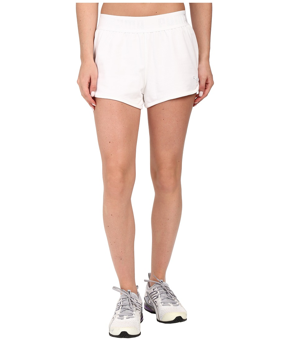PUMA - Active Forever Shorts (White) Women's Shorts
