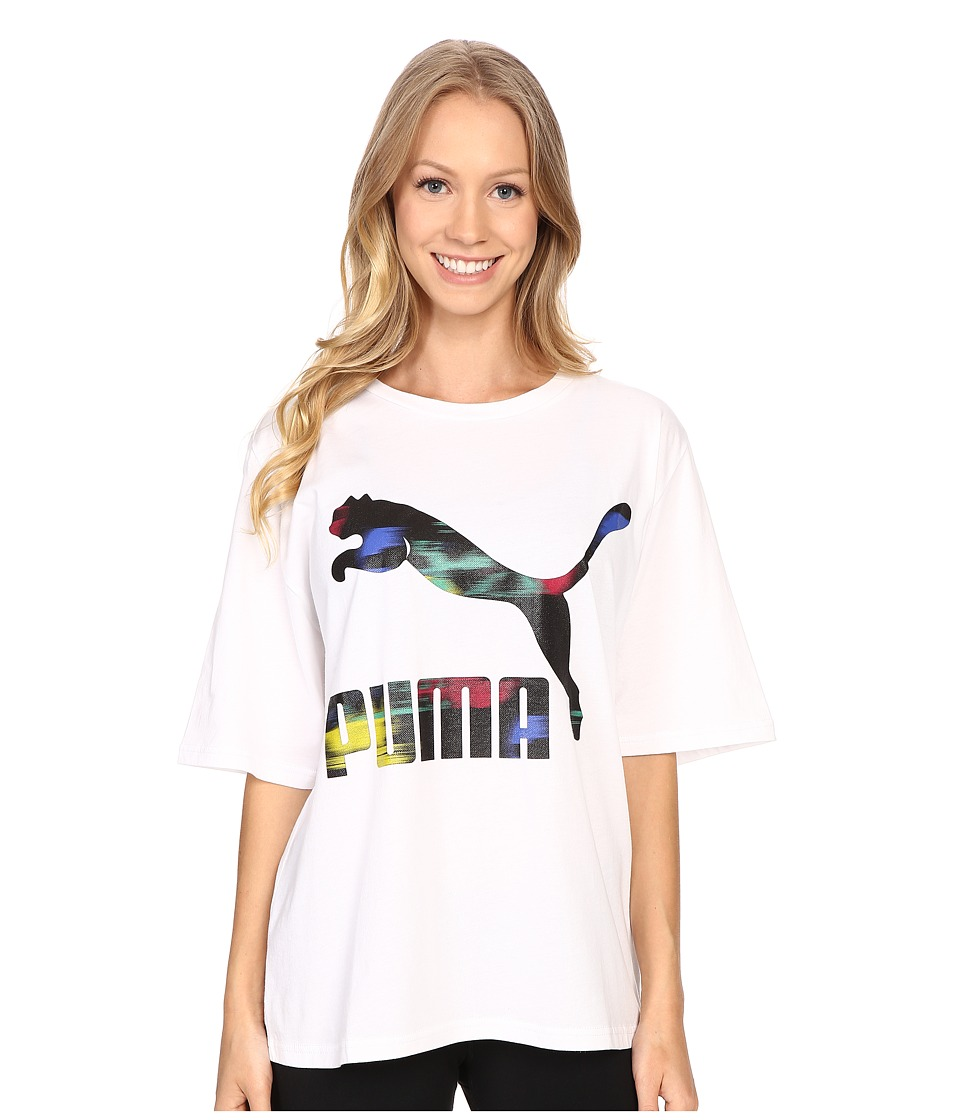 PUMA - Sugar Point Logo Tee (White) Women's T Shirt