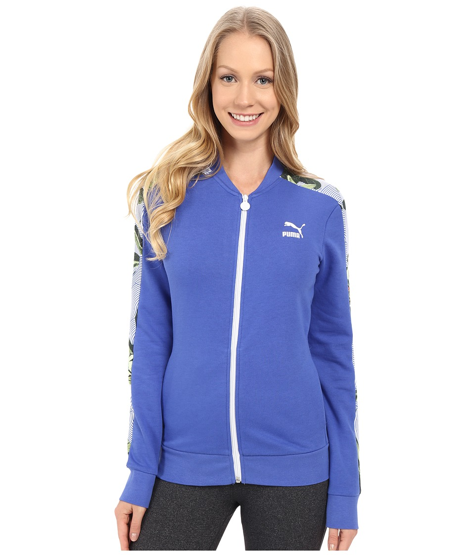 PUMA - AOP Track Jacket (Dazzling Blue) Women's Workout