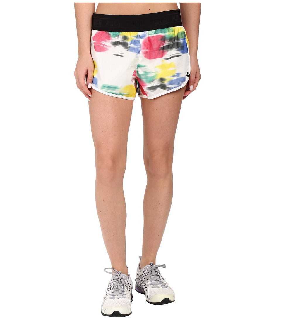 PUMA - AOP Shorts 2 (White/AOP) Women's Shorts