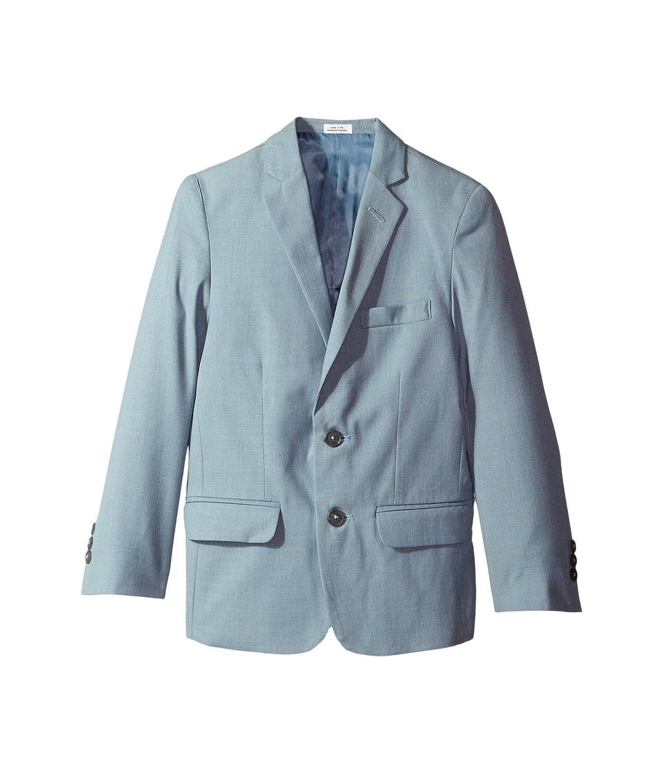 Calvin Klein Kids Striated Sharkskin Jacket (Big Kids) (Medium Teal) Boy