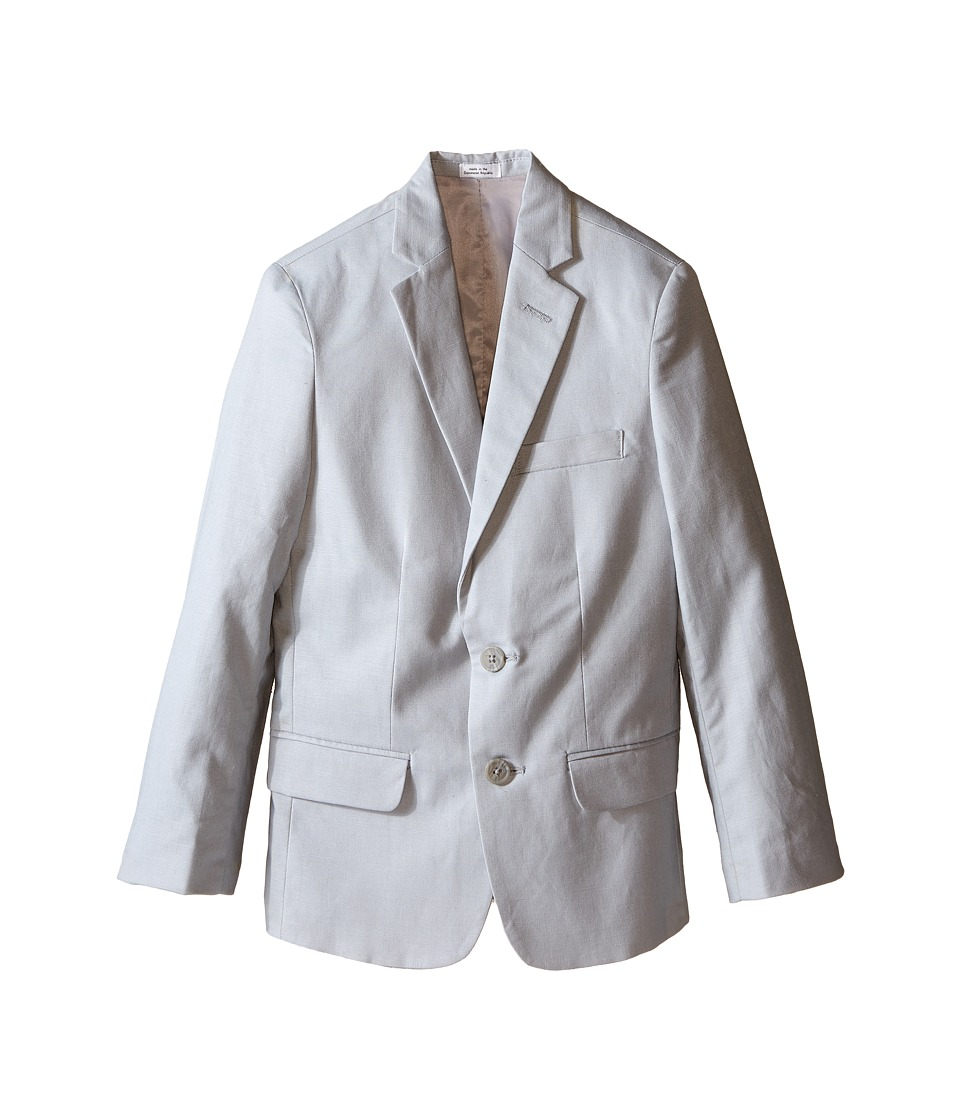 Calvin Klein Kids - Tri-Blend Linen Jacket (Big Kids) (Light Grey) Boy's Jacket