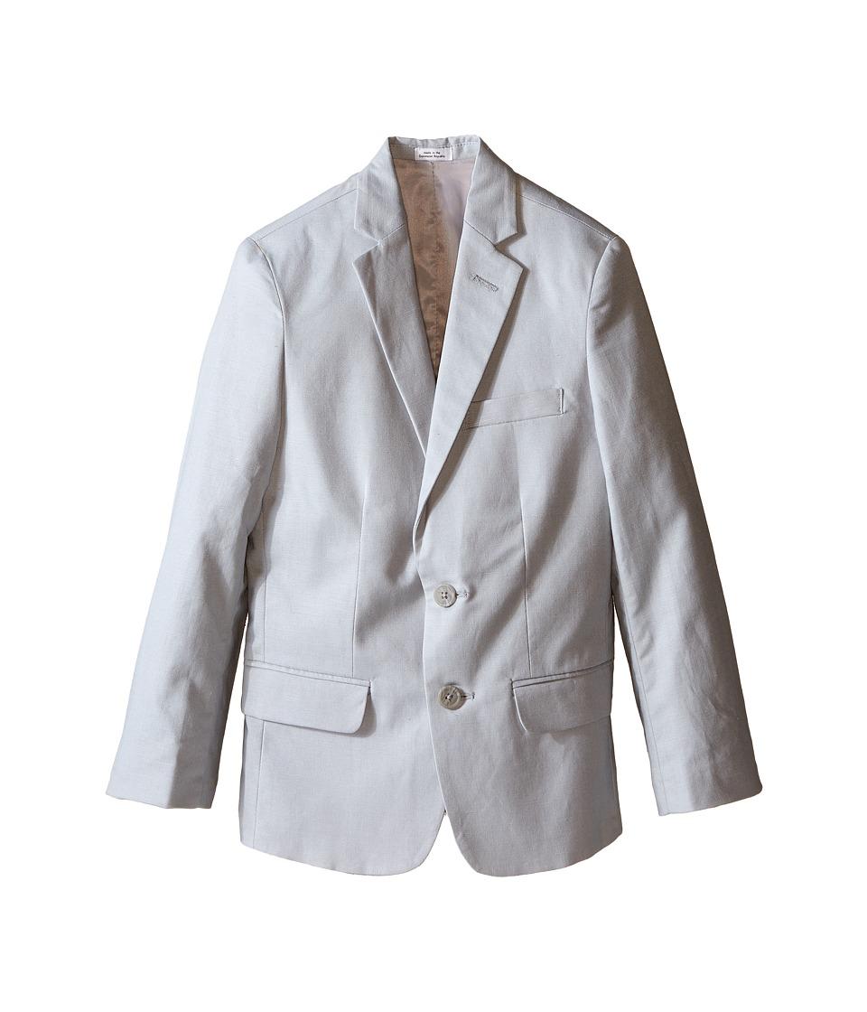 Calvin Klein Kids - Tri-Blend Linen Jacket (Big Kids) (Light Grey) Boy's Jacket