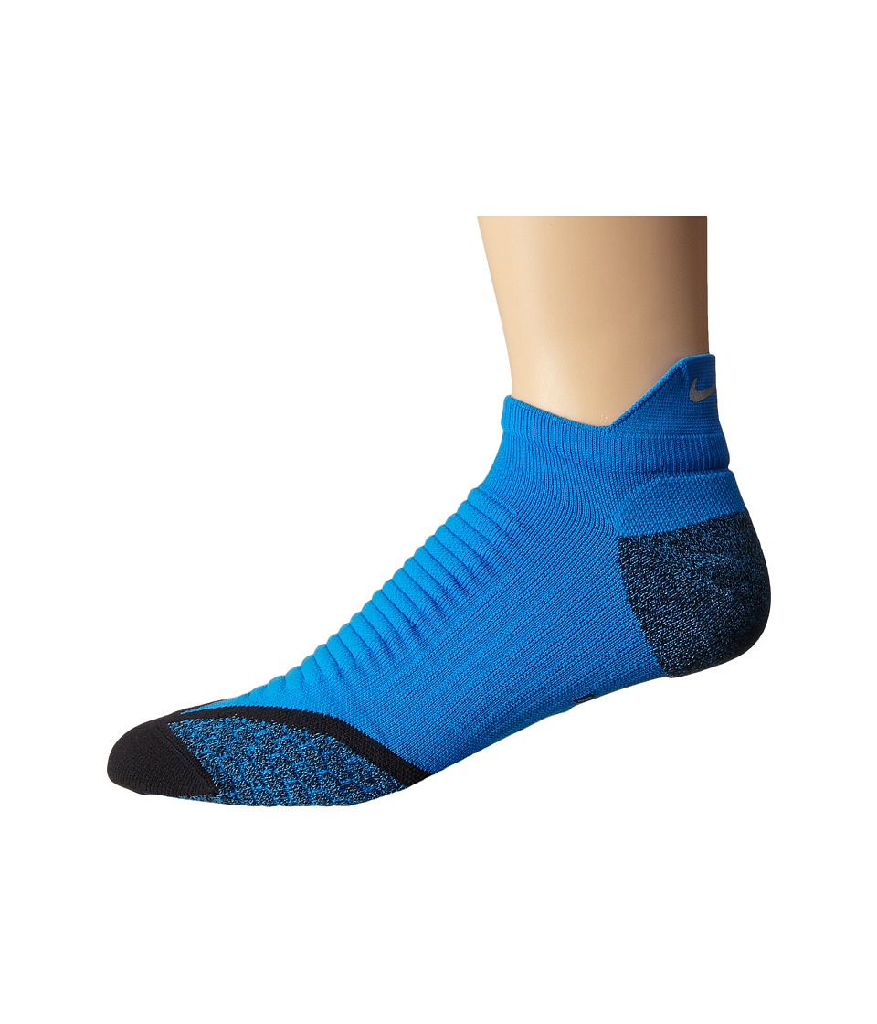 Nike - Elite Running Cushion No Show Tab 1-Pair Pack (Photo Blue/Black) No Show Socks Shoes