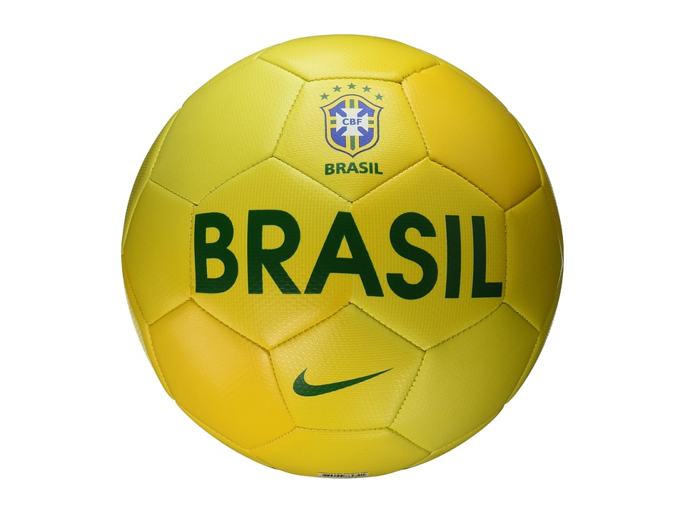 Nike - Prestige - Brasil (Volt/Yellow/Green) Athletic Sports Equipment