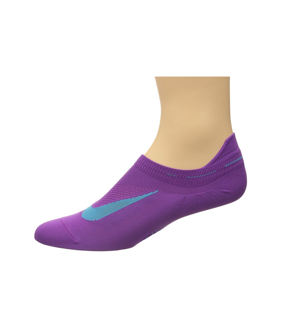 Nike - Elite Running Lightweight No Show (Cosmic Purple/Omega Blue/Omega Blue) No Show Socks Shoes