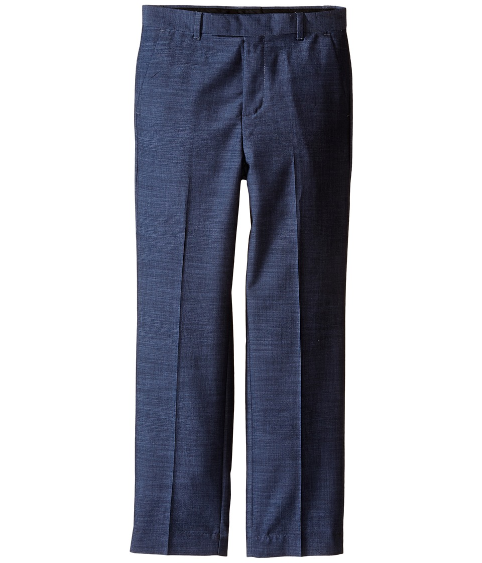 Calvin Klein Kids - Plain Weave Slub Pants (Big Kids) (Medium Blue) Boy's Casual Pants