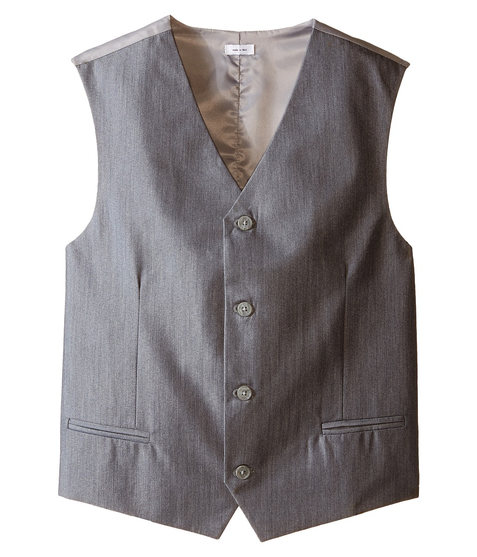 Calvin Klein Kids - Irridescent Twill Vest (Big Kids) (Light Grey) Boy's Vest