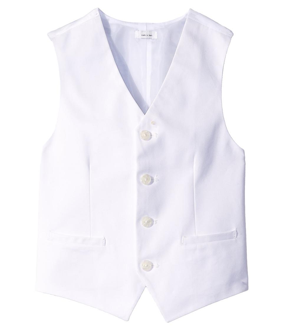 Calvin Klein Kids - Fancy Twill Vest (Big Kids) (White) Boy's Vest