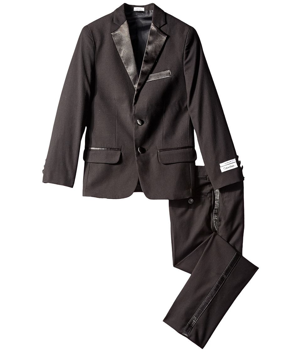 Calvin Klein Kids - Tuxedo Suit (Big Kids) (Black) Boy's Jacket
