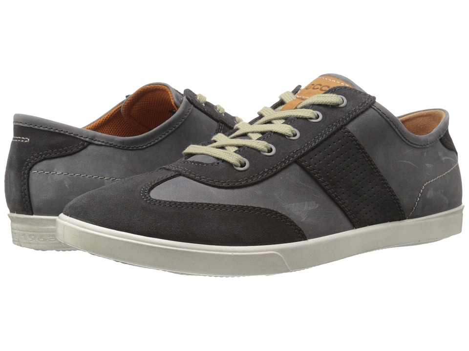 ECCO Collin Retro Sneaker (Moonless/Moonless) Men