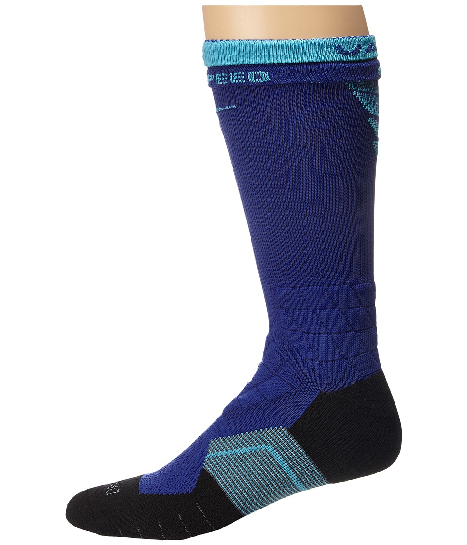 Nike - Nike 2.0 Elite Vapor Crew Fade Football (Deep Royal Blue/Deep Royal Blue/Omega Blue) Crew Cut Socks Shoes