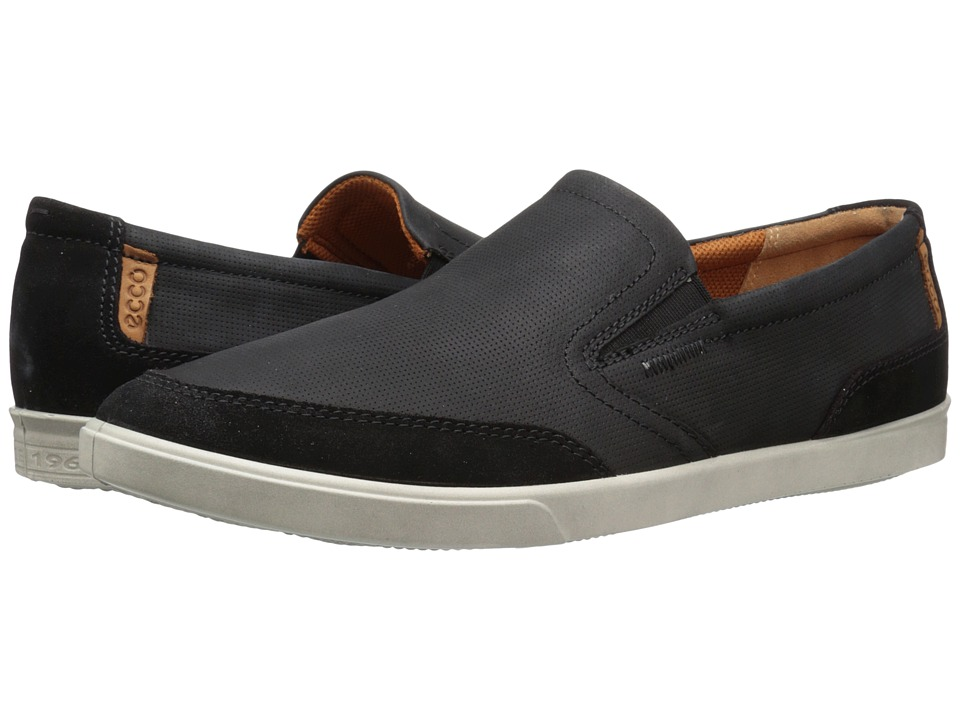ECCO - Collin Casual Slip On (Black/Black) Men's Shoes