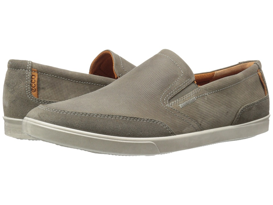 ECCO - Collin Casual Slip On (Warm Grey/Tarmac) Men's Shoes
