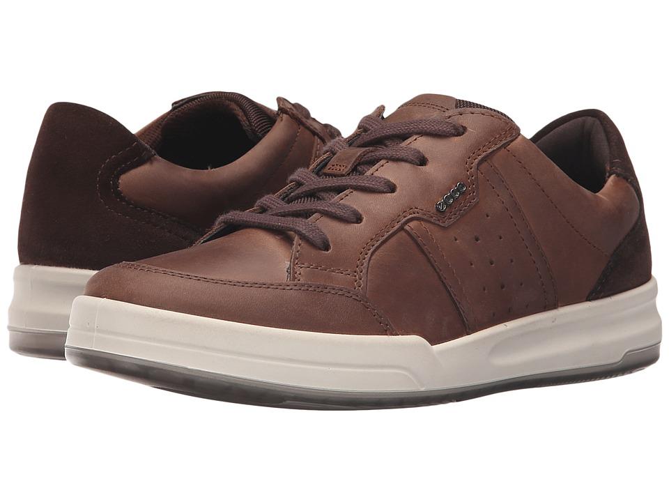 ECCO - Jack Tie (Coffee/Coffee) Men's Shoes