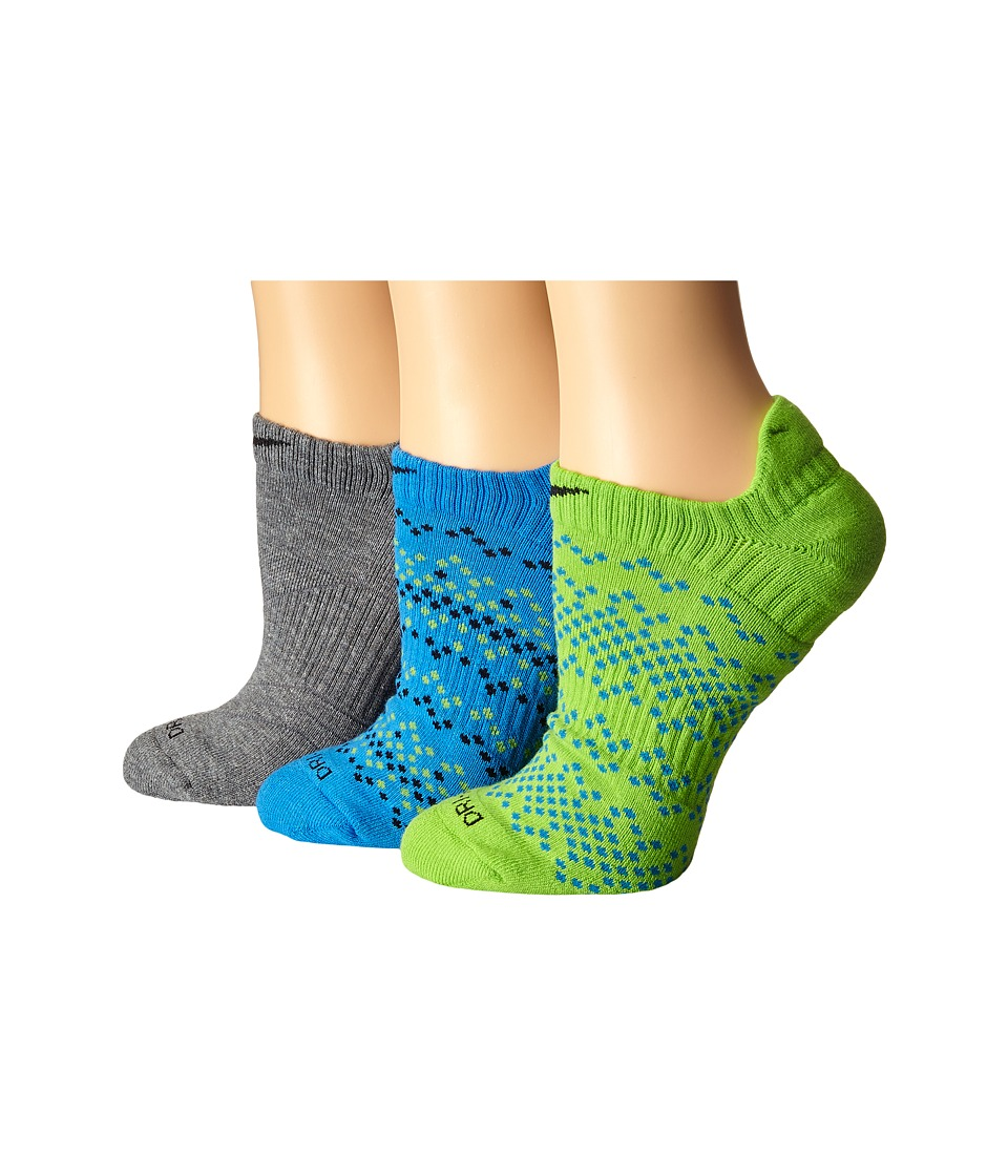 Nike - Dri-Fit Graphic No Show 3-Pair Pack (Multicolor 8) Women's No Show Socks Shoes
