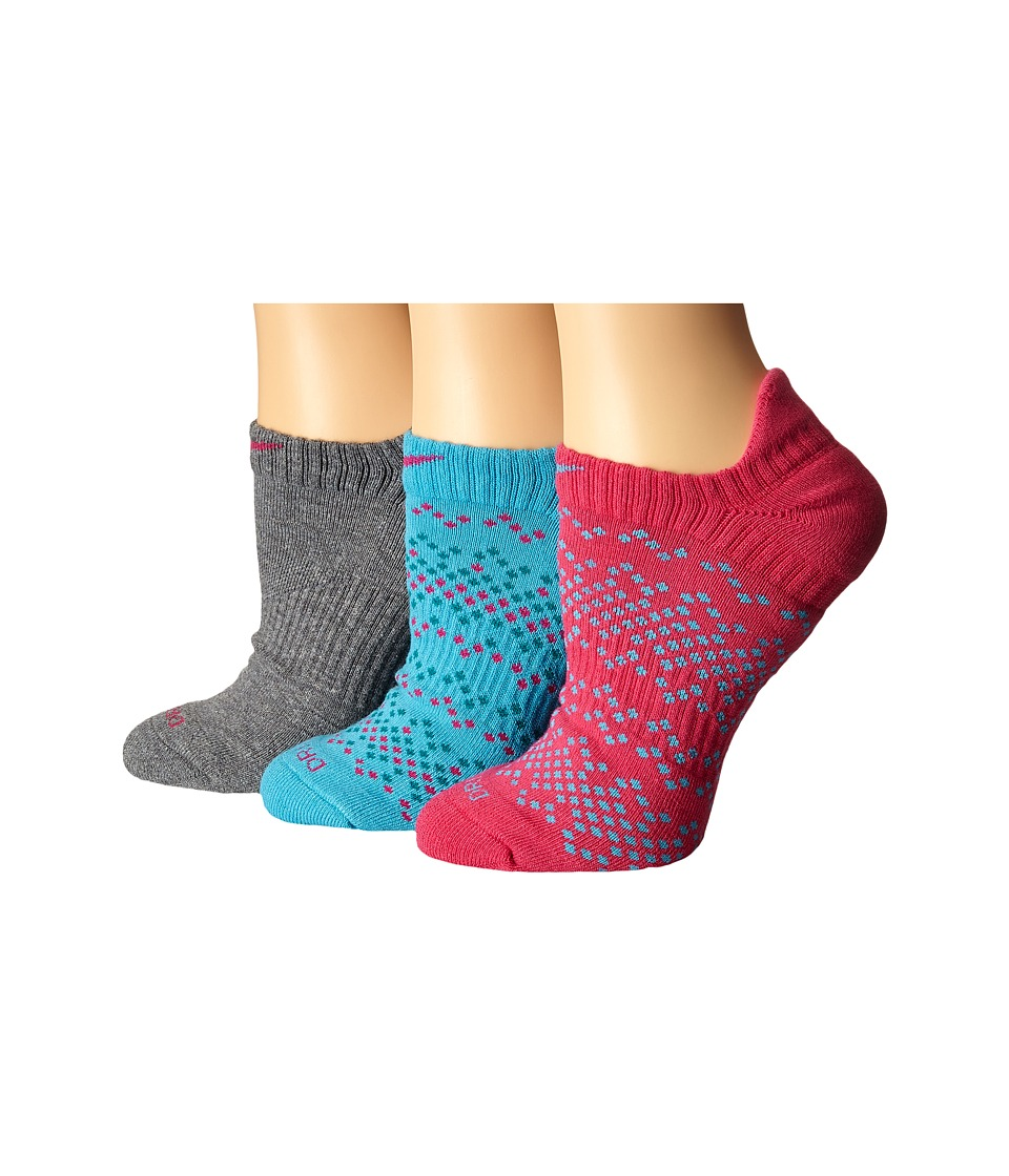 Nike - Dri-Fit Graphic No Show 3-Pair Pack (Multicolor 9) Women's No Show Socks Shoes