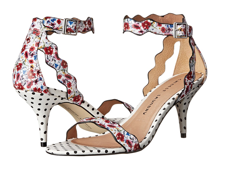 Chinese Laundry - Rubie Scalloped Sandal (Red/White Floral Print) High Heels