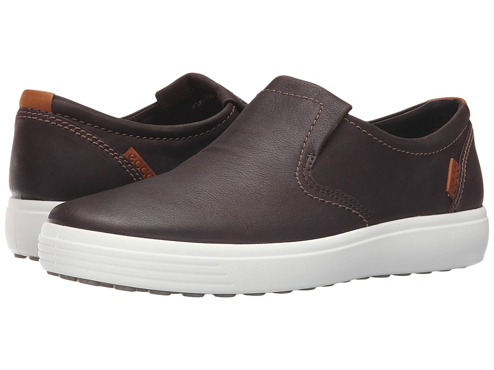 ECCO Soft VII Slip-On (Coffee) Men