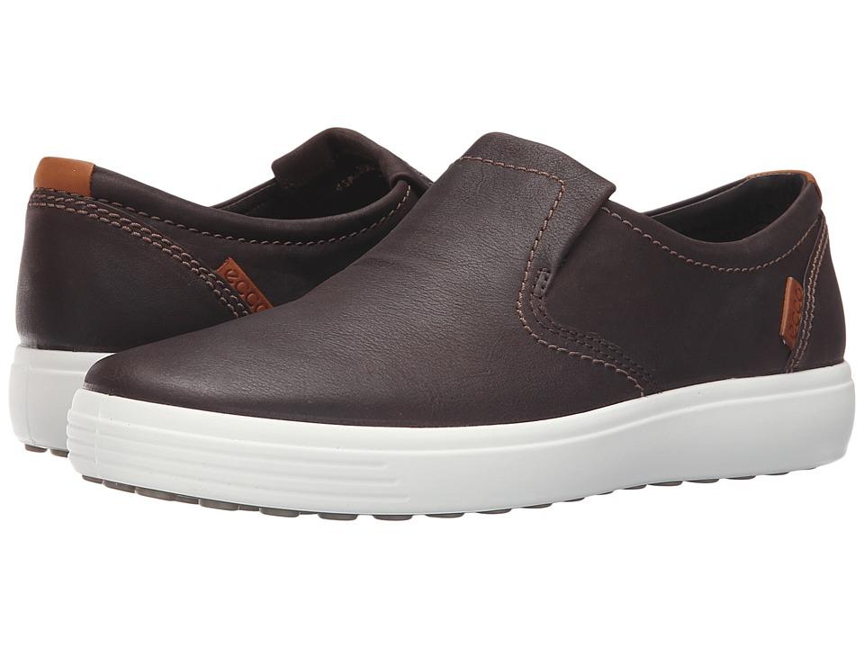 ECCO - Soft VII Slip-On (Coffee) Men's Slip on Shoes