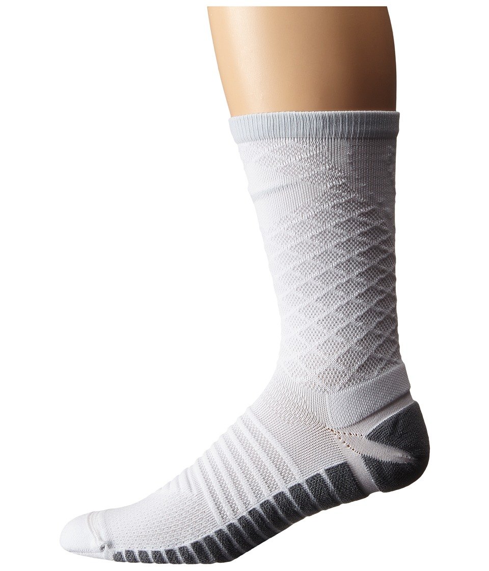 Nike - Nike Strike Tiempo Crew (White/Pure Platinum/Pure Platinum) Crew Cut Socks Shoes