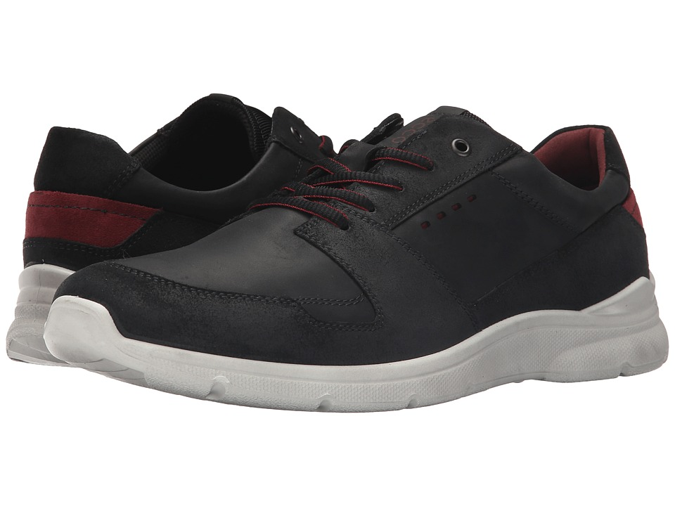 ECCO - Irondale Retro Low (Black/Black) Men's Shoes