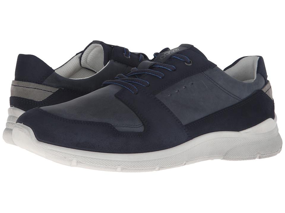 ECCO - Irondale Retro Low (Marine/Marine) Men's Shoes