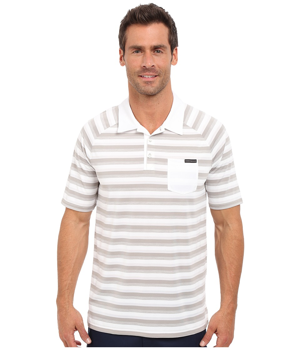 Oakley - Ace Stripe Polo (Stone Grey) Men's Short Sleeve Pullover
