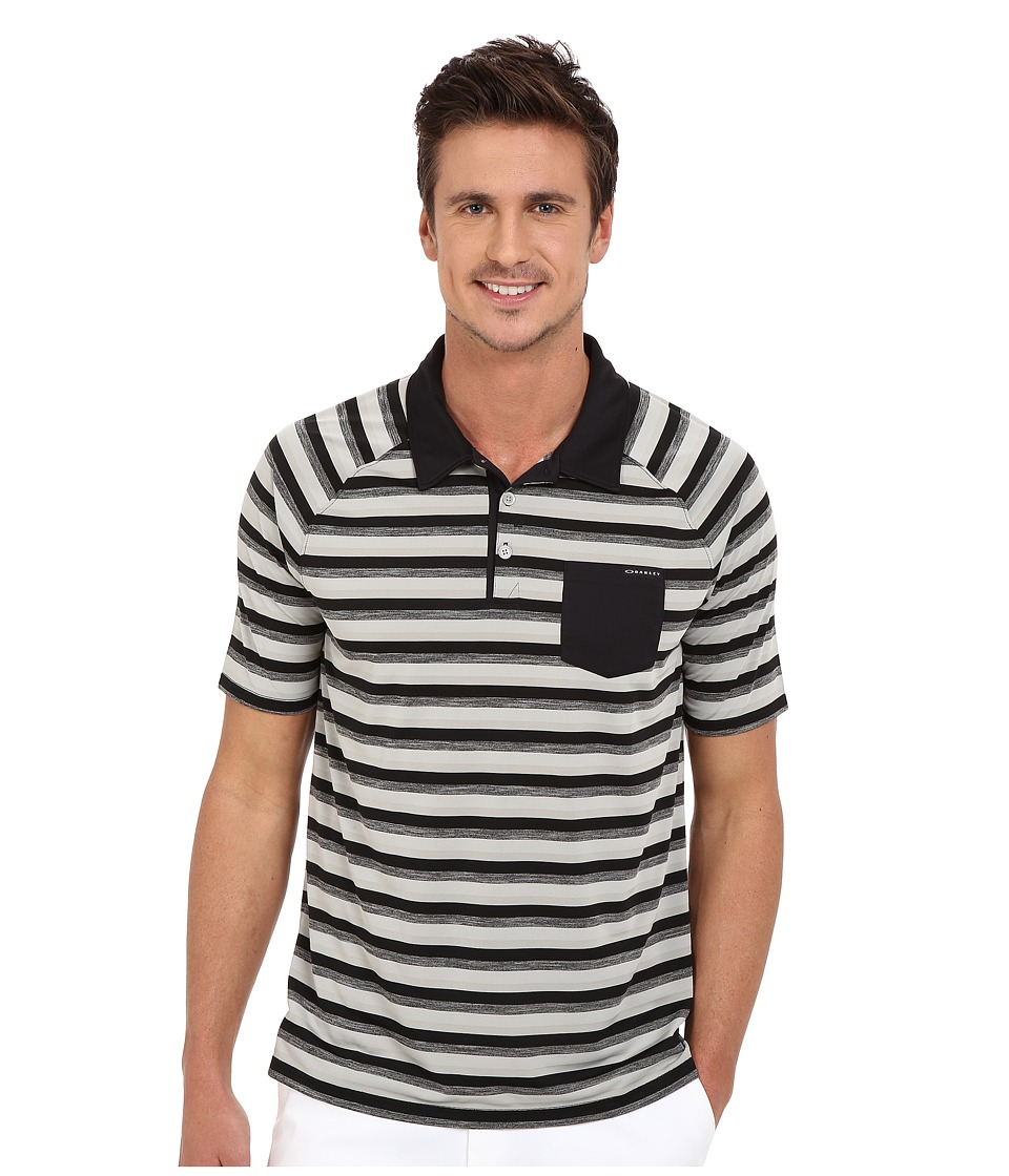 Oakley - Ace Stripe Polo (Black) Men's Short Sleeve Pullover