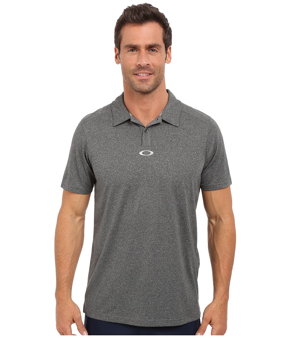 Oakley - Roman Polo (Black Heather) Men's Short Sleeve Pullover