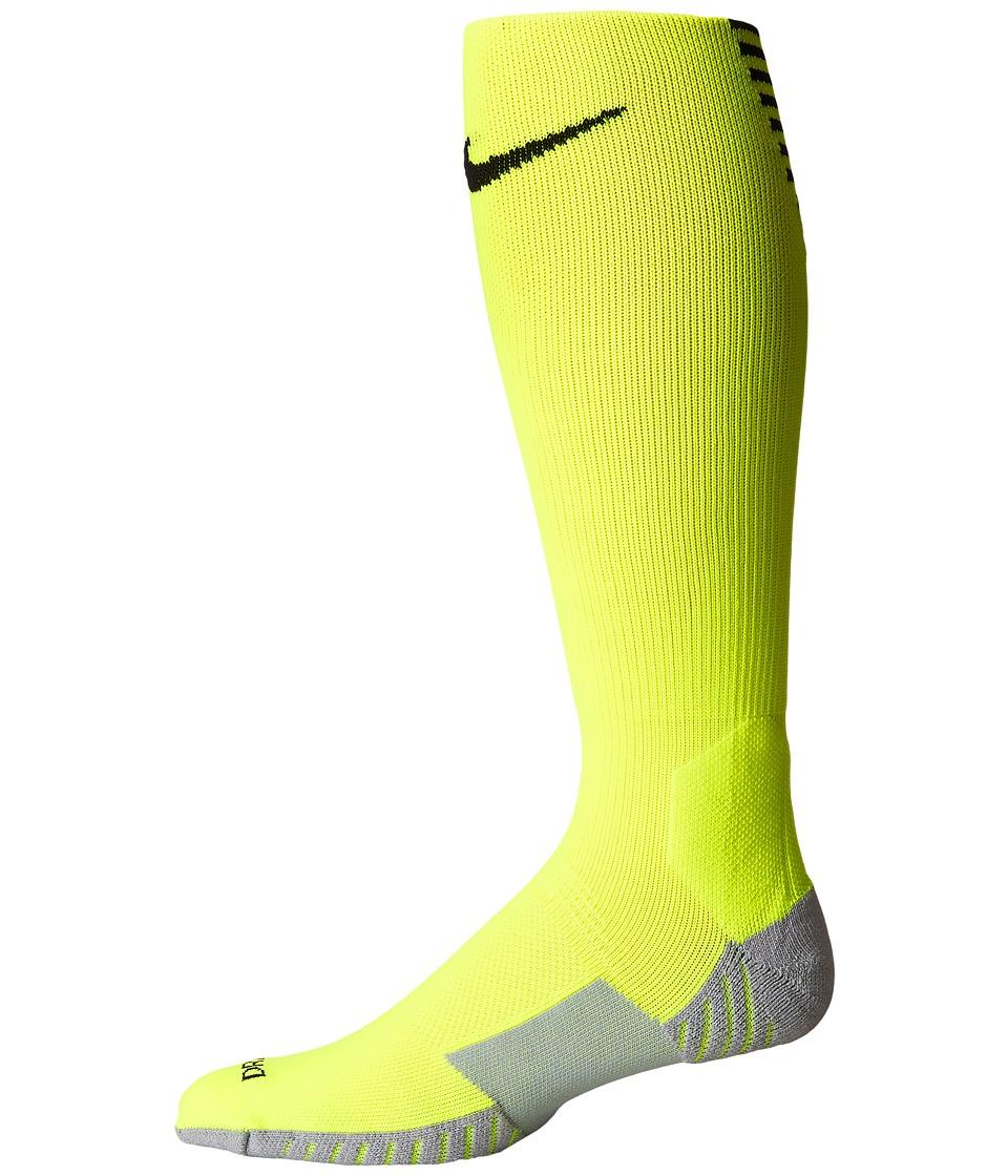 Nike Stadium Football OTC (Volt/Black/Black) Knee High Socks Shoes