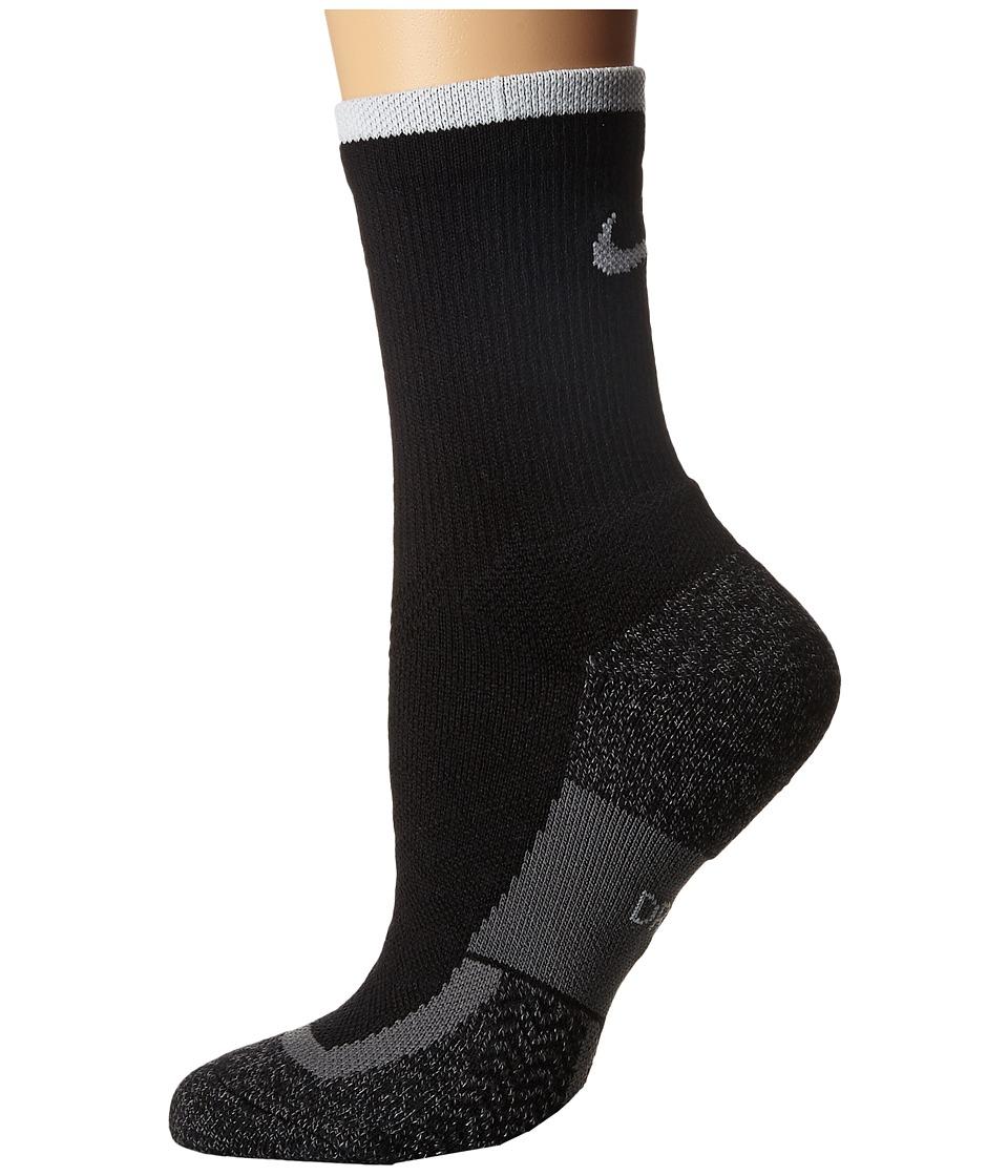 Nike Elite Tennis Crew (Black/White/White) Crew Cut Socks Shoes