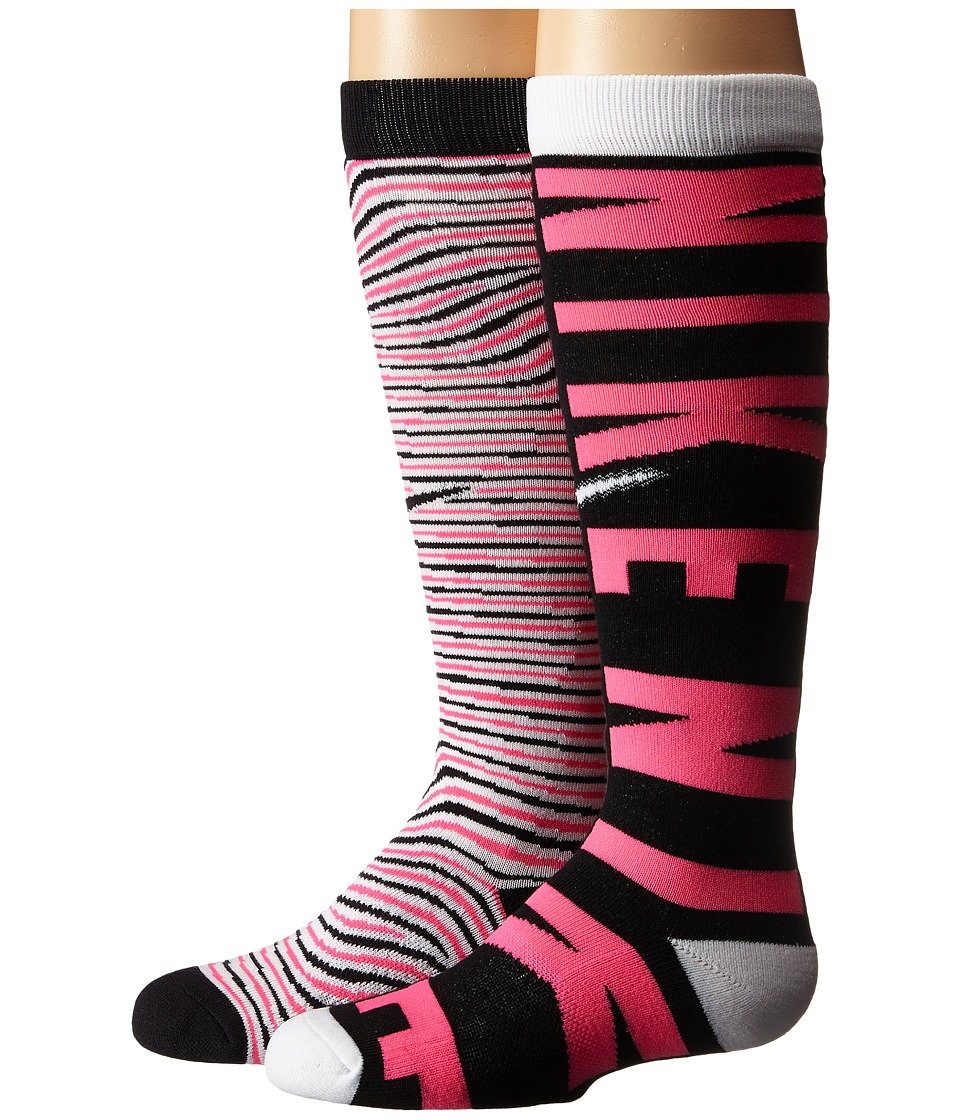 Nike Kids - Graphic Cotton Knee High 2-Pair Pack (Toddler/Little Kid/Big Kid) (Multicolor 5) Girls Shoes