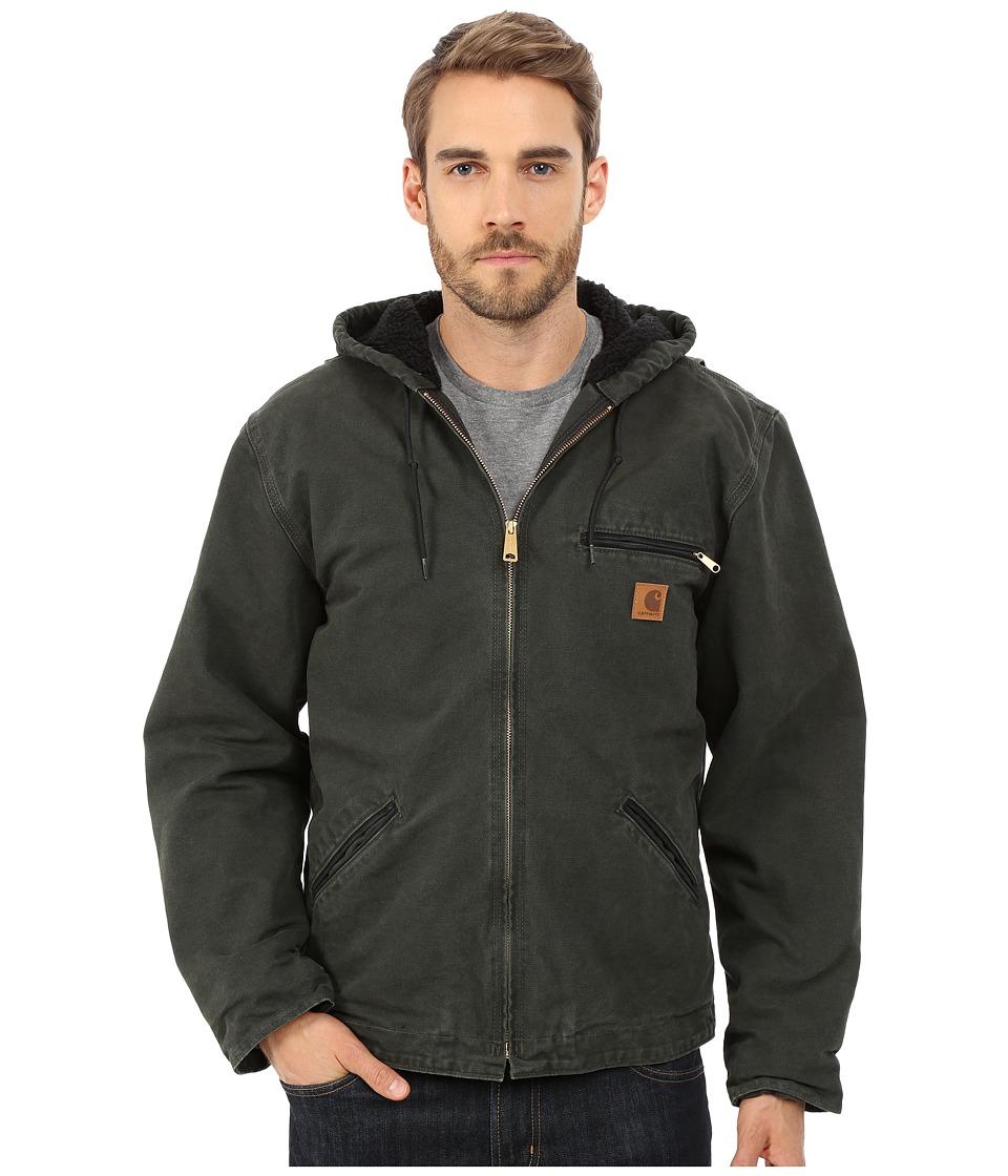 Carhartt - Sierra Jacket Sherpa Lined Sandstone (Moss) Men's Coat