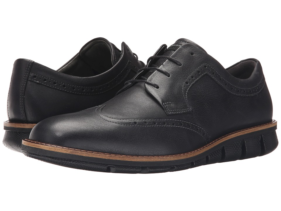 ECCO - Jeremy Brogue Tie (Black) Men's Shoes