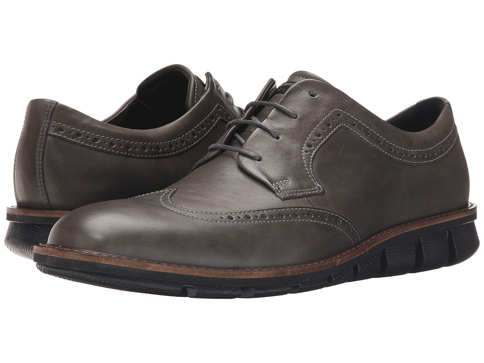ECCO - Jeremy Brogue Tie (Titanium) Men's Shoes