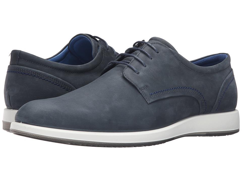ECCO - Jared Modern Tie (Navy) Men's Shoes