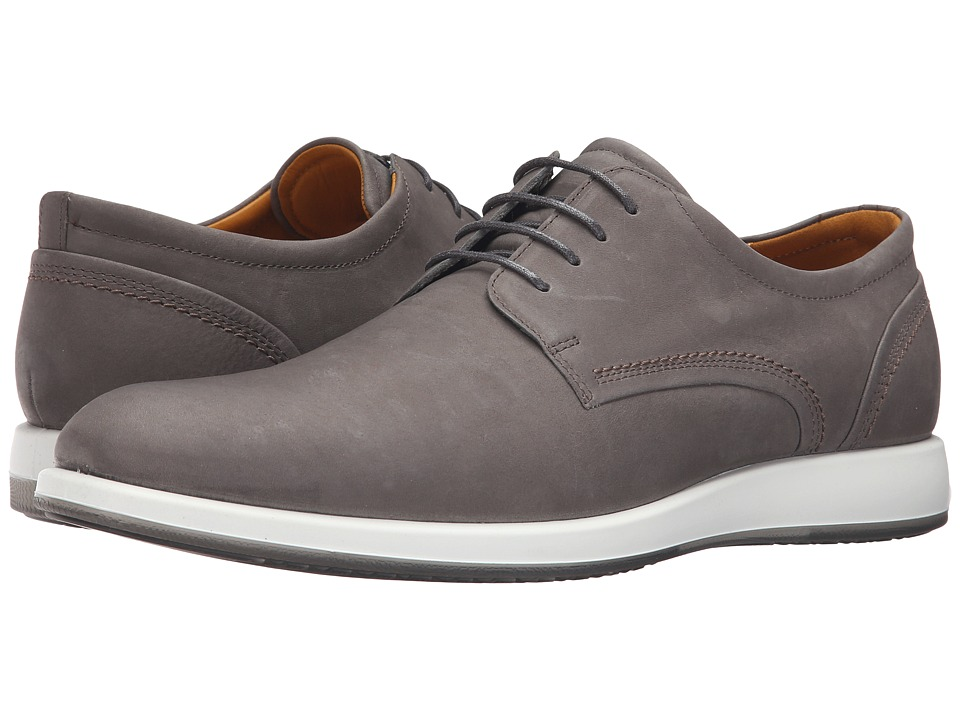 ECCO - Jared Modern Tie (Warm Grey) Men's Shoes